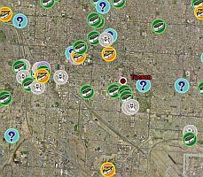 Geocaching geocaching.com in geocache locations using GPS in Google Earth