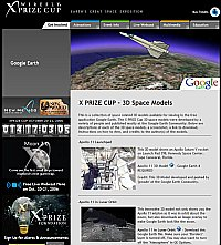 X PRIZE Cup 3D Space Models in Google Earth