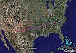 Flight Back in Google Earth