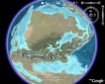 Paleogeographic Time Animation (continents) in Google Earth