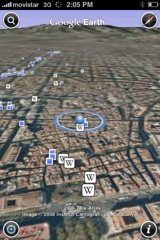 Google Earth on the iPhone