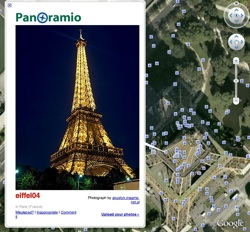 Panoramio icons new in Google Earth