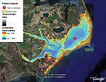 estuary bathymetry from NOAA in Google Earth