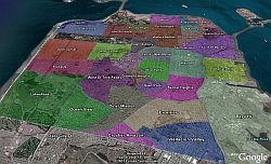 Zillow Neighborhood Boundaries in Google Earth