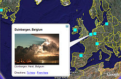 Accuweather.com photo calendar winners in Google Earth