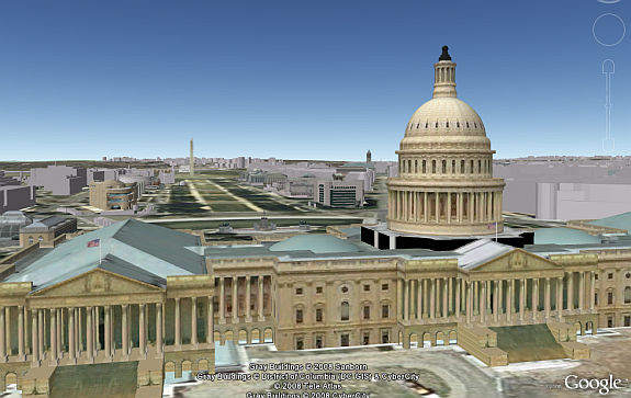 Washington, DC in Google Earth