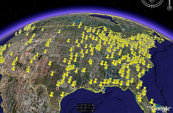 Congressional defense earmarks in Google Earth