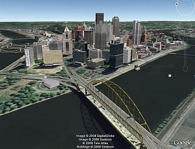 Pittsburgh 3D Buildings in Google Earth