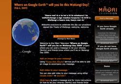 Waitangi Day in Google Earth