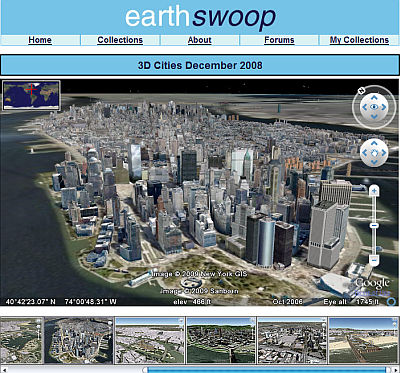 EarthSwoop of 3D Cities in Google Earth