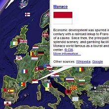 CIA World Factbook in Google Earth
