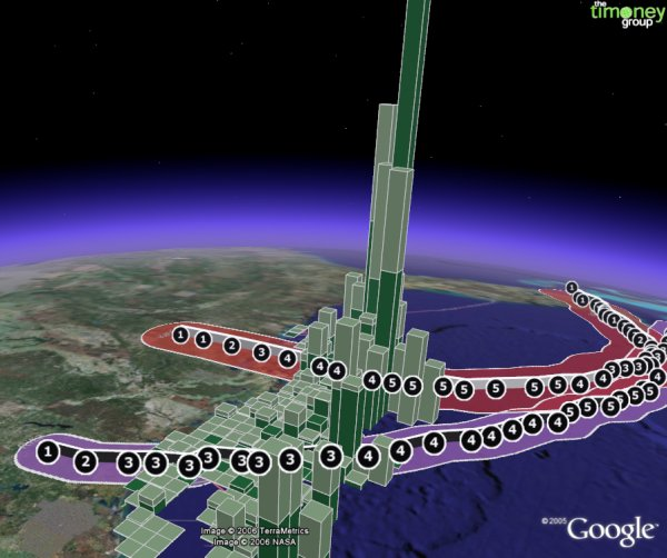 Impact of Hurricanes on Gulf Oil/Gas in Google Earth