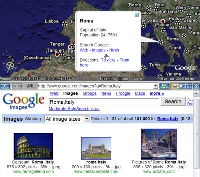 New Search Capability in Google Earth