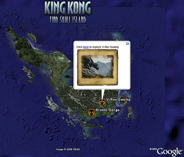 King Kong Game on Google Earth