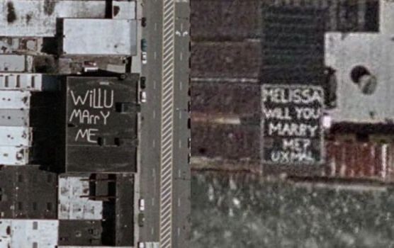 Marriage Proposals in Google Earth