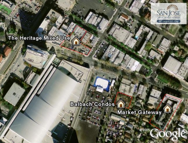 Smart Growth San Jose in Google Earth