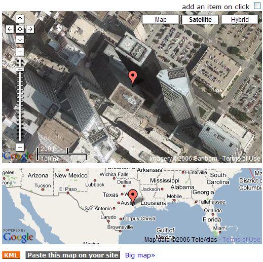 Tagzania in Google Maps