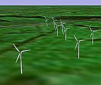 Batsworthy Cross Wind Farm proposal in Google Earth
