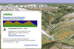 Wikiloc GPS tracks in Google Earth