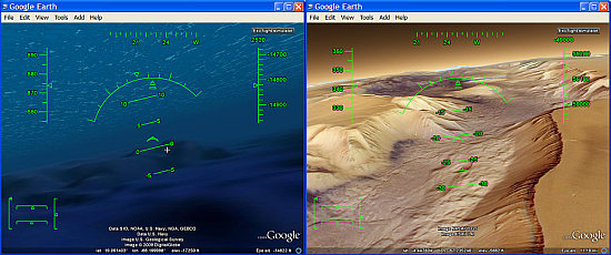 Flight Simulator trick for ocean or Mars in GE 5