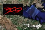 The making of the movie 300 in Google Earth
