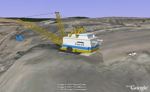 Dragline mining in Google Earth