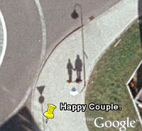 Lover shadows in Google Earth
