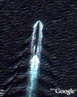 Submarine near China in Google Earth