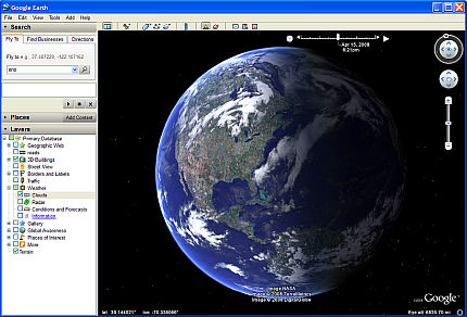 Google Earth 4.3 screenshot