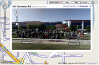 Googlers in Google Maps StreetView