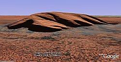 Ayers Rock in Google Earth