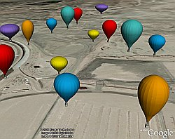 Balloon Festival 3D models in Google Earth
