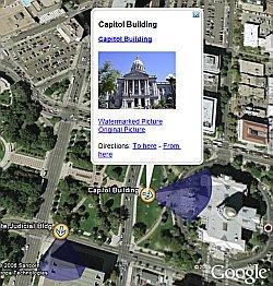 Geospatially Aware Ricoh Digital Camera in Google Earth