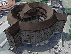 Globe Theater in Google Earth