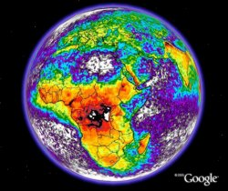Lightning Map in Google Earth