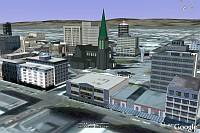 Christchurch 3D Buildings in Google Earth