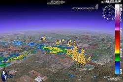 GuiWeather lightning data in Google Earth