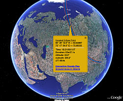 August 2008 Total Solar Eclipse in Google Earth