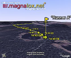 Magnalox live tracking in Google Earth