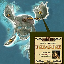 Pirates of the Caribbean in Google Earth