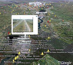 Quebec/Montreal Traffic Cameras in Google Earth
