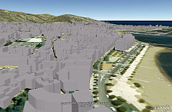 Roses Spain in 3D in Google Earth