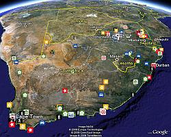 California Fires June 25 - 2008 in Google Earth
