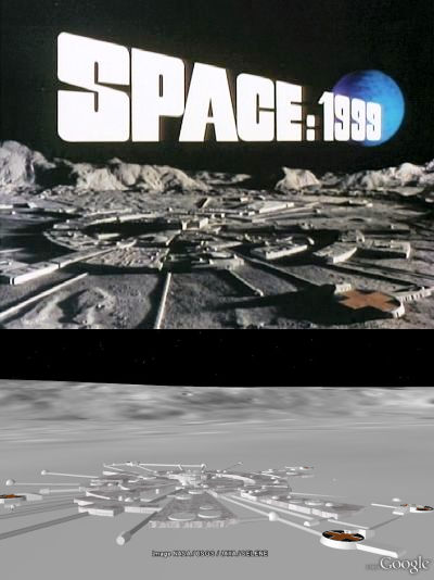 Moonbase Alpha in Google Earth