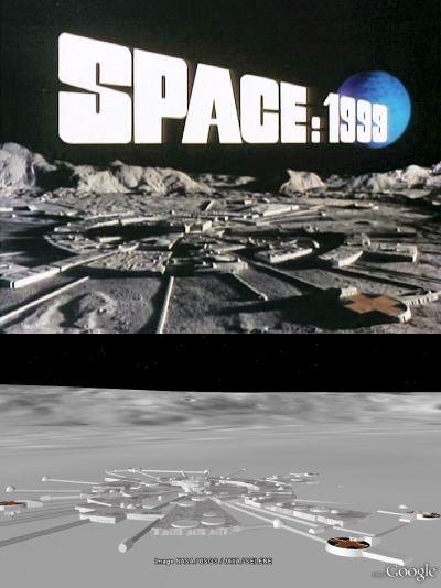 Moonbase Alpha in Google Earth