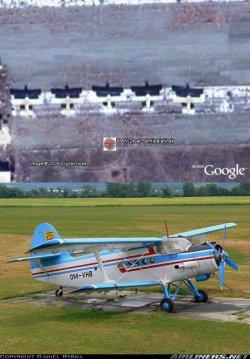 Antonov An-2 planes in Google Earth