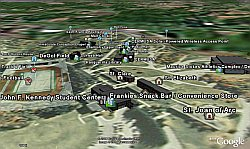 Saint Francis University campus map in Google Earth