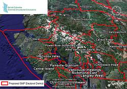 British Columbia Electoral Boundaries Commission map in Google Earth