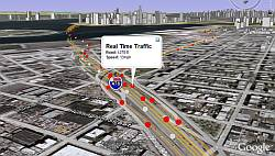 Real Time Traffic layer in Google Earth