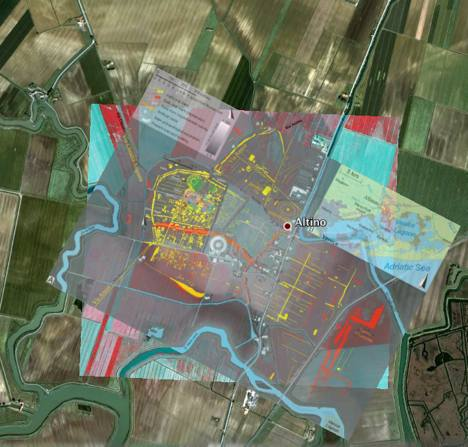 Altinum and map overlays in Google Earth